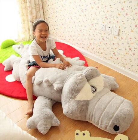 200 cm animaux en peluche grande taille Simulation Crocodile kawaii en peluche jouet coussin oreiller jouets pour enfants