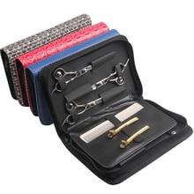 שיער מסרק גזירה פאוץ מחזיק מקרה עם חגורת בארבר ברבר כלי שקיות מקצועי שיער מספריים תיק