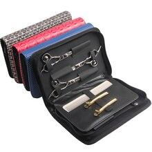 Saç tarak kesme kılıf tutucu kılıf ile kemer kuaför kuaförlük alet çantaları profesyonel saç makas çantası
