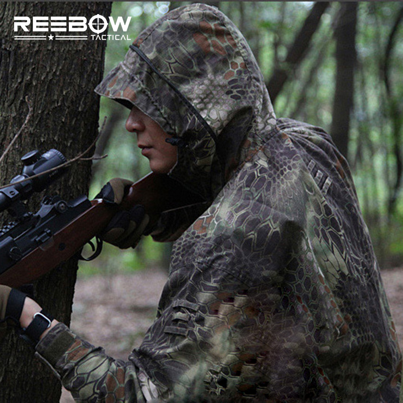 Woodland Python Grain Camouflage Outdoor Jacket Hooded Mens Airsoft Paintball Camping Tactical Camo Beekeeping Shooting Coats python grain pythons grain cotton padded jacket camouflage hunting jacket mens tactical airsoft paintball camping hiking