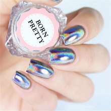 0.5g/Box Holographic Laser Rainbow Powder Nail Chrome Pigment Glitter Manicure Art