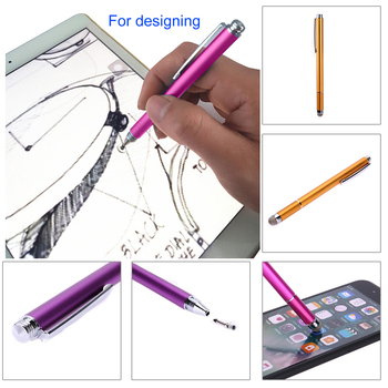 2in1 Capacitive Pen Touch Screen Drawing Pen Stylus with Conductive Touch Sucker Microfiber Touch Head for Tablet PC Smart Phone 4