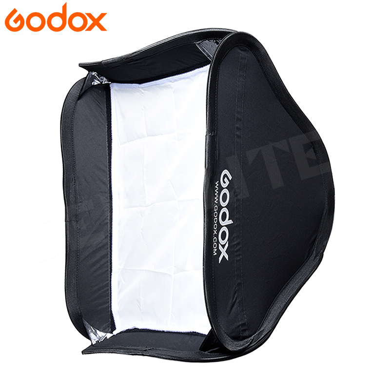 Godox Softbox 40*40 Cm / 15 * 15 Diffuser Reflector For Speedlite Flash Light Professional Photo Sutdio 40x40cm Soft Box image