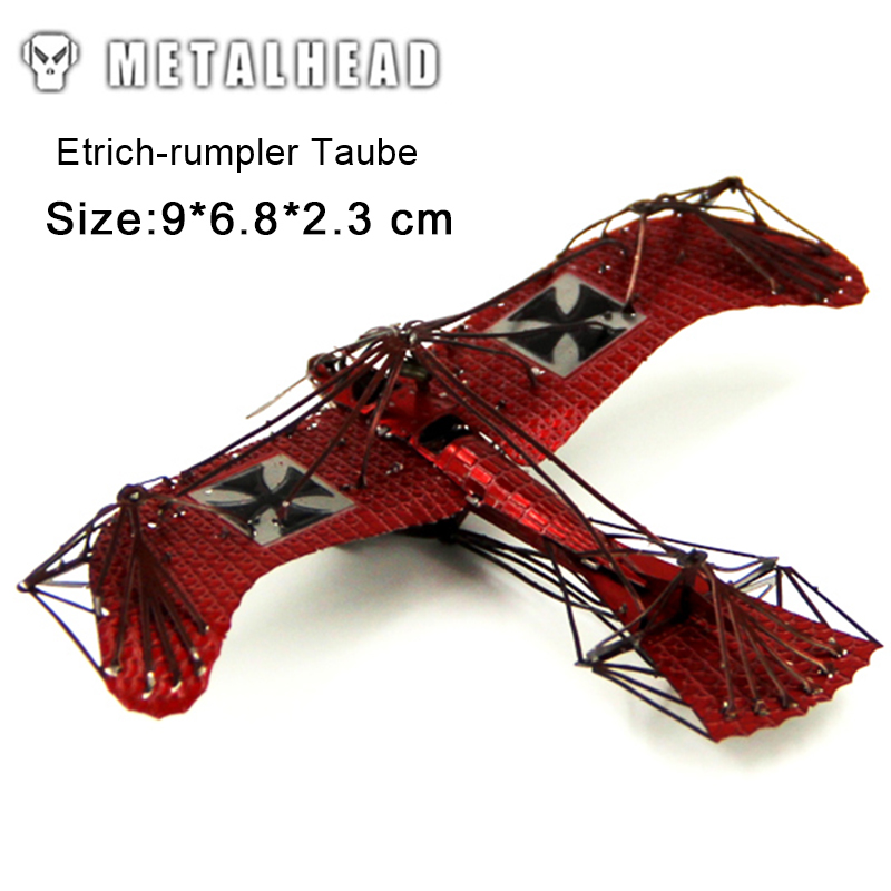 3D Metal Puzzle Model ETRICH-RUMPLER TAUBE Jigsaw Birthday Gifts Collectional Educational Toys For Adult Lover Friends Children