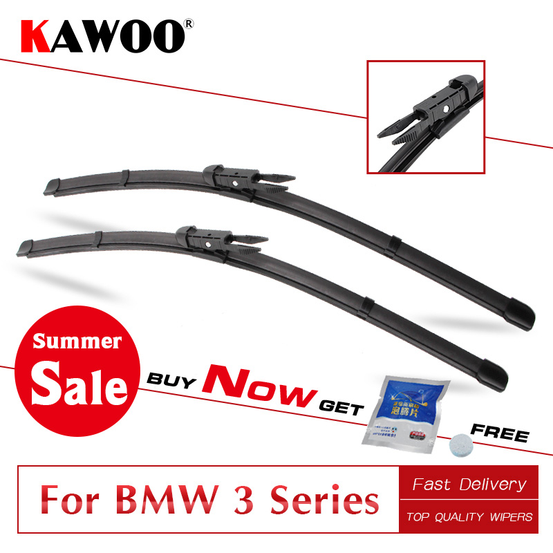 KAWOO for <font><b>BMW</b></font> <font><b>3</b></font> Series E36 E46 E90 E91 E92 E93 F30 F31 F34 From 1993 To 2017 <font><b>Car</b></font> Wipers Blade Fit U Hook/Pinch Tab/Side Pin Arms image