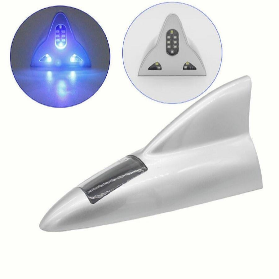 Solar Universal Car Shark Fin Antenna Radio Antenna Dekorativ Shark - Exteriör biltillbehör - Foto 2