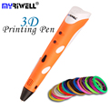 Myriwell Brand New Magic 3D Pen Drawing 3D Printing Pen With 1.75mm ABS Filaments For Kids Birthday Present