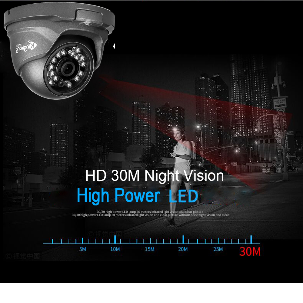 Image 4 - Kingkonghome IP Camera 48V POE Metal 1080P ONVIF Network Security Camera CCTV P2P Motion Detection Waterproof Outdoor IP Cam-in Surveillance Cameras from Security & Protection