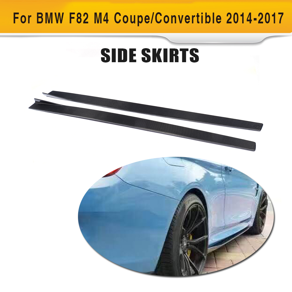 4 series carbon fiber side skirts extension lip aprons for bmw f82 m4 coupe 2 door