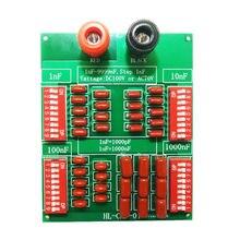 Tablero de condensador programable, condensador de película de polipropileno, 1nF a 9999nF Step 1nF, cuatro década