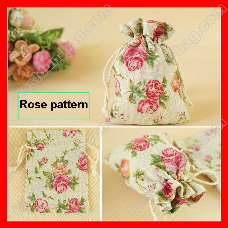 100pcs/lot  Wholesale fabric draw string gift bag jute
