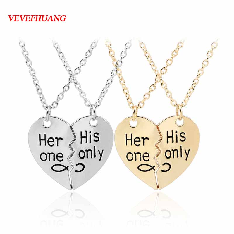 VEVEFHUANG Best Friends Necklace Jewelry Yin Yang Tai Chi Pendant Couples Paired Necklaces&Pendants Unisex Lovers Valentine's