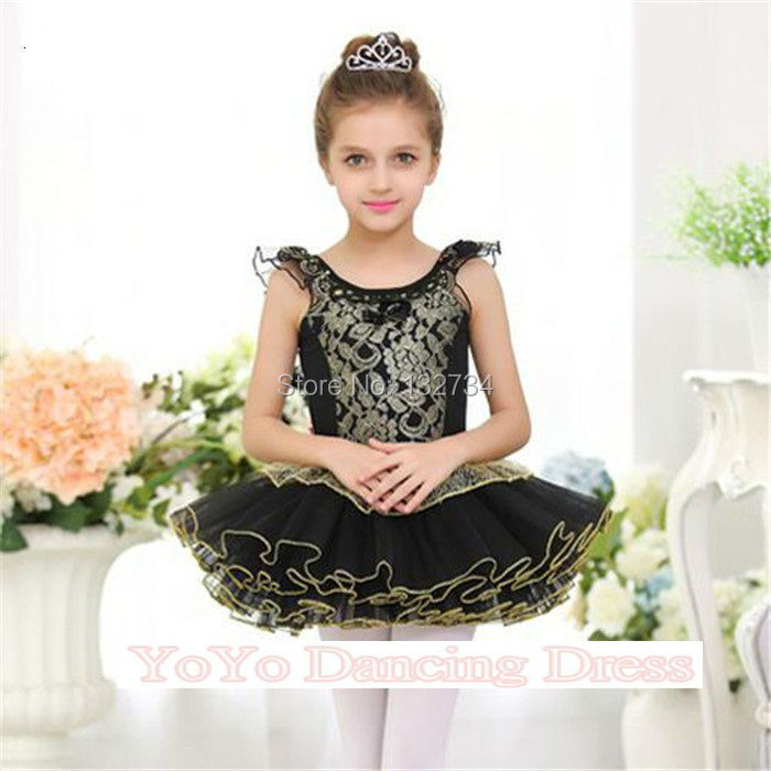 HIGH QUALITY!! New Arrival Kids Girls Black Classic Ballet Tutu Skirt Dress Customized Ballet Dancewear Dresses Dance Tutu Dress