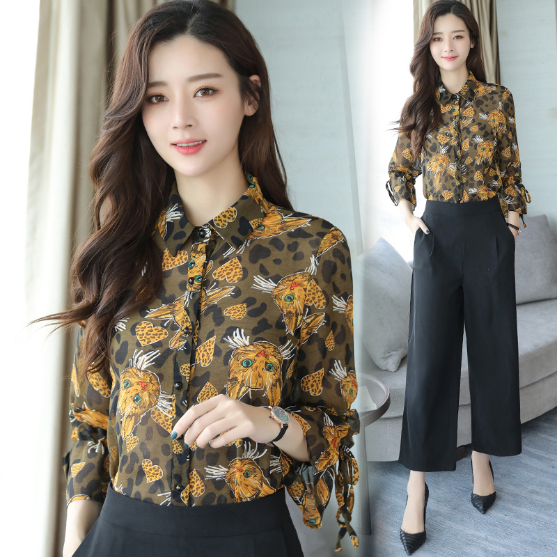 Women's Clothing Lovely Womens Two-piece Shirt Vest Casual Suit Autumn Large Size Shirt Temperament Long-sleeved Top Women Loose Vest Suit Winter New Easy To Use