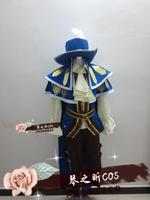 The Card Master Musketeer Twisted Fate Cosplay Costume Anime Custom Made Uniform With Hat