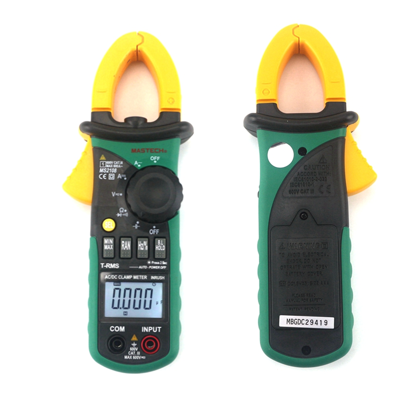 Mastech MS2108 Digital Clamp Meter True RMS LCD Multimeter AC DC Voltmeter Ammeter Ohm Herz. Duty Cycle Multi Tester обогреватель умница тв 2000вт п