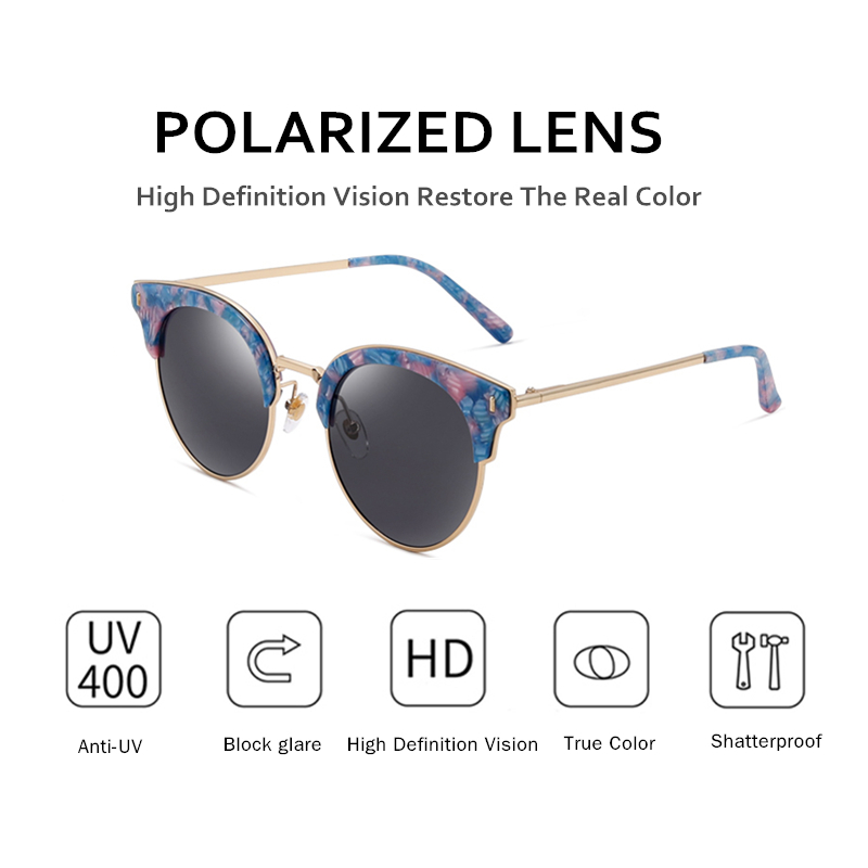 Parzin Occhiali da Sole Polarizzati Occhiali da Sole Vintage Delle Donne Femmina di Grandi Dimensioni Occhiali da Sole Delle Signore di Guida Anti Riflesso Occhiali Occhiali Accessori 9652 - 3