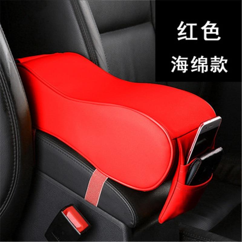 Car styling Interior PU armrest font b box b font armrest font b box b font