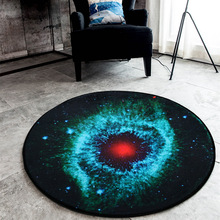 Round Carpets 2018 New 3D Printed Cosmic Planets Mat Anti-slip Circular Floor Rugs Computer Chair Mats Kids Room Decor