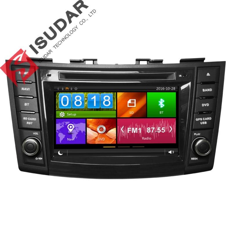 Isudar Car font b Multimedia b font Player Car Radio GPS 2 Din For SUZUKI SWIFT