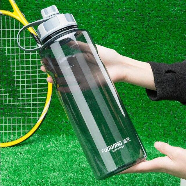 BPA משלוח 1000 ml/1500 ml/2000 ml פלסטיק בקבוקי מים נייד כושר ספורט מים בקבוקי שתייה עבור בקבוק