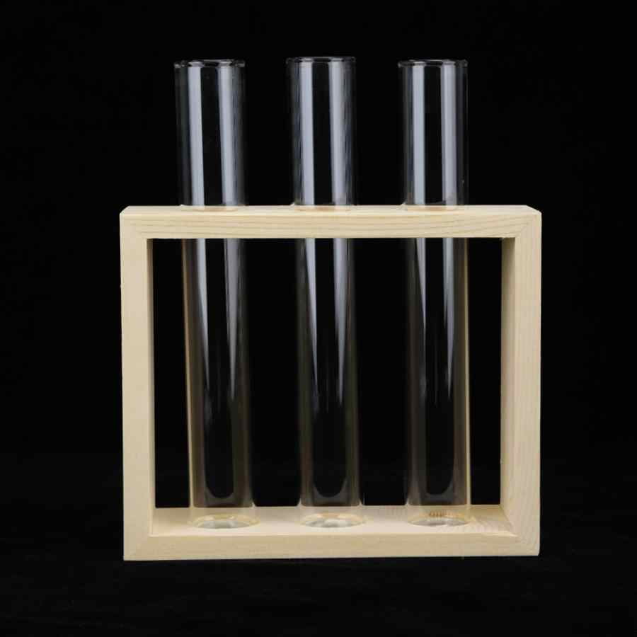 1PCS Glass Transparent Tube Vase Planter Terrarium Table Hydroponics Plant Loose Soil Tools