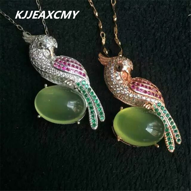 KJJEAXCMY boutique jewelry, Natural grape green chalcedony pendant inlaid female S925 sterling silver jewelry wholesaleKJJEAXCMY boutique jewelry, Natural grape green chalcedony pendant inlaid female S925 sterling silver jewelry wholesale