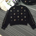 2017 spring women  flower  Beading  sweater
