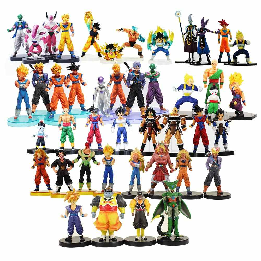 Dragon Ball Z Vegeta Trunks Goku Frieza Celular Champa Gentain Beerus Toy Figura Super Saiyan Goku PVC Modelo Dolls