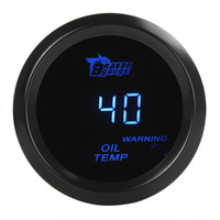 Universal 2 Inch / 52mm Digital Blue LED Electronic Oil Temp Gauge Kit for Car / Trucks / Motor
