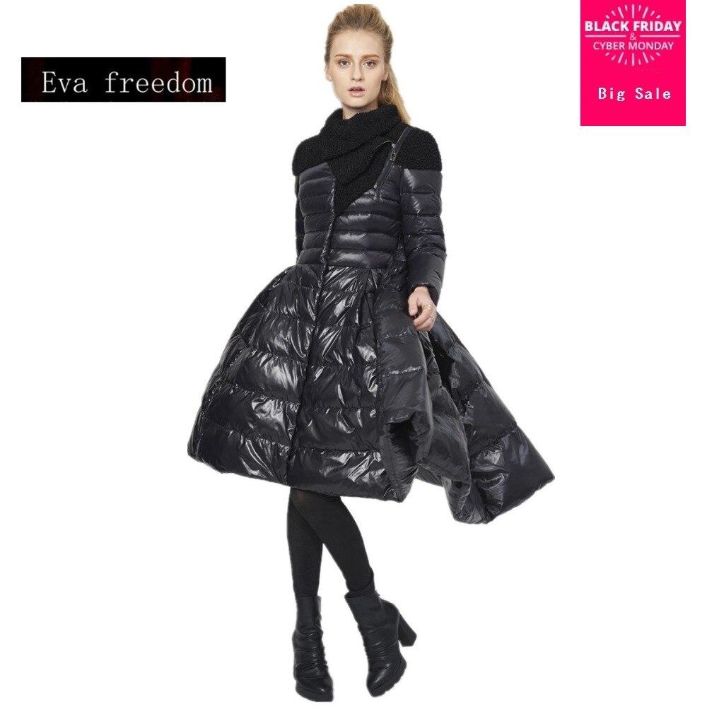 2018 nouvelle marque de mode big swing 90% Blanc duvet de canard parkas manteau Europe créative conception camouflage plus épais veste w1234