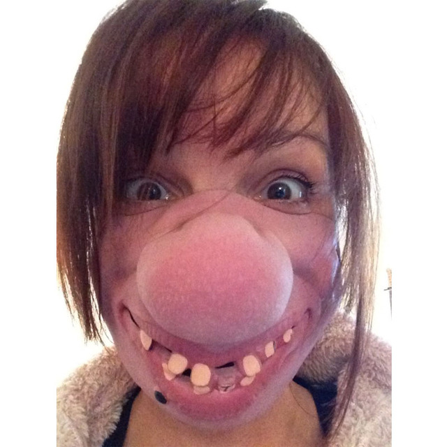 Big Teeth Latex Mask Horror Creepy Elastic Band Half Face Masks For Adults Kids Dress Up Props Masquerade Party  Halloween 1