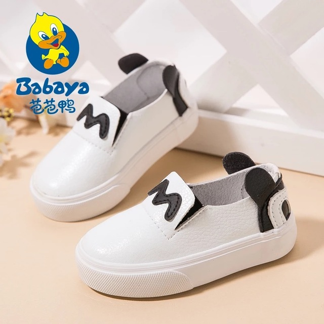 2016 casual cartoon slip on soft microfiber PU leather baby sneakers fashion loafers boy girl first walkers infant leather shoes