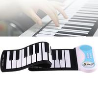 Mini 37 Keys Silicon Flexible Roll Up Piano Electronic Organ For Children Students Music Performance And