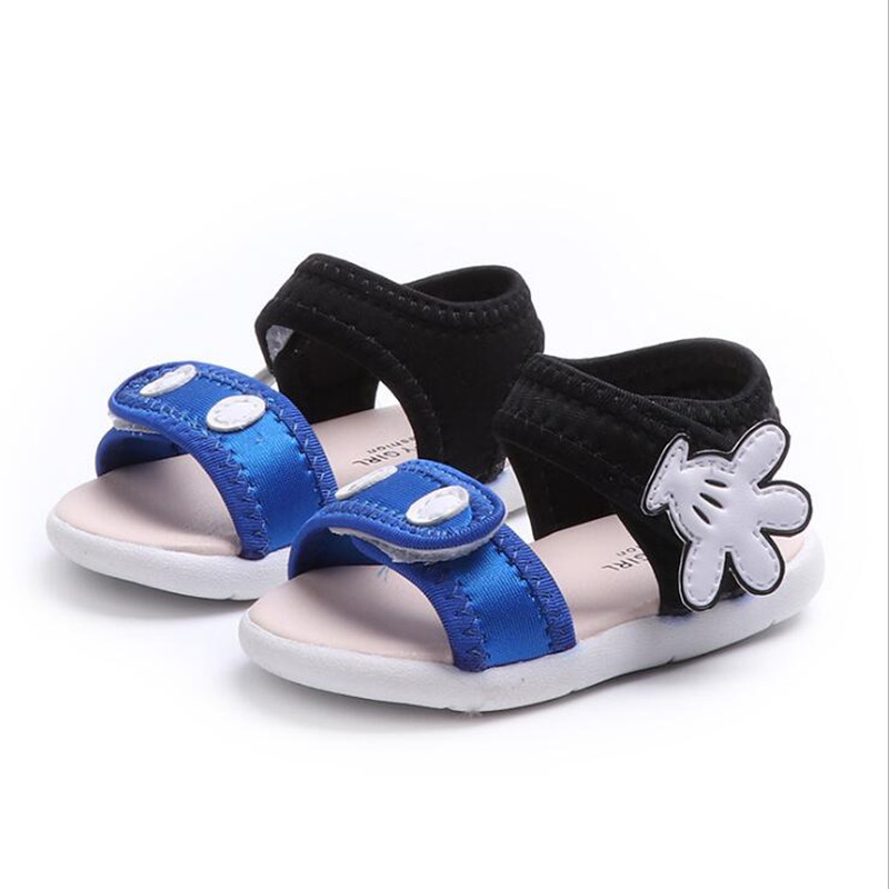 25% 2018 Summer Baby girls boys sandals kid beach infant toddler sandals mickey hand blue red pink 21-25 1-3years 1108 TX05