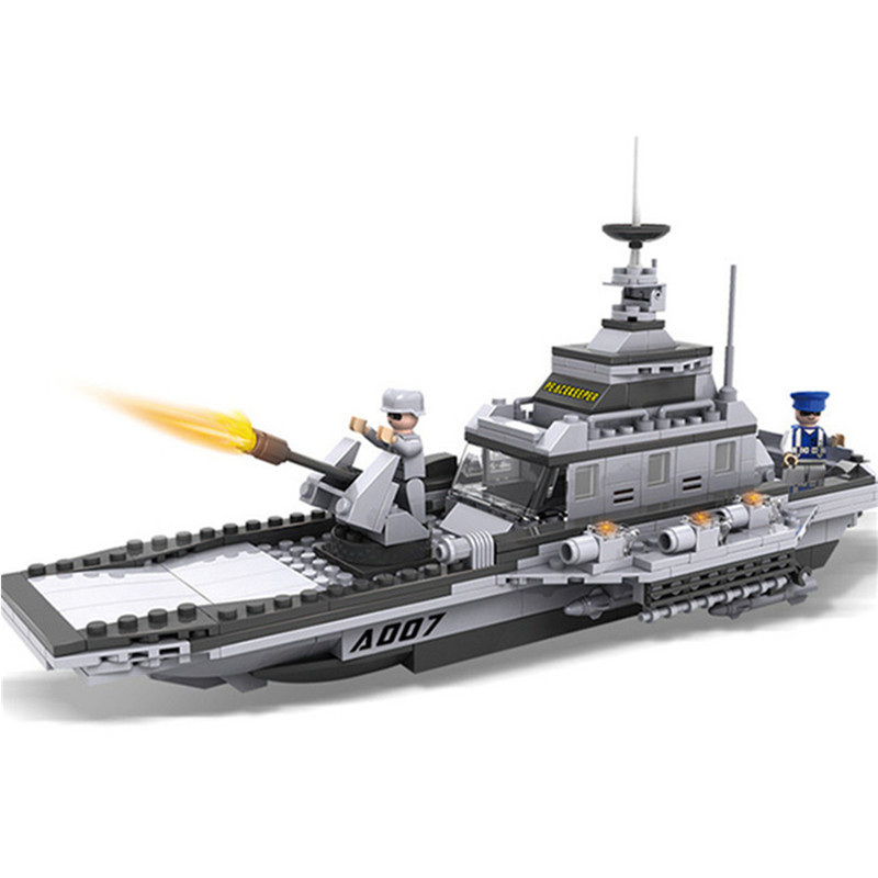 8-in-1 Large Military Figures Warship Fighter Helicopter Tank Ship Building Blocks Set Children Educational Toys For Boys tumama 829pcs military blocks toy 8 in 1 warship fighter tank army soldiers bricks building blocks educational toys for children