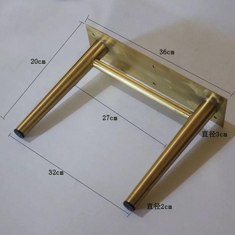 Image 4 - 2pcs/lot Gold Stainless Steel Cabinet Legs 19CM TV Cabinet Holder Furniture Leg Cupboard Legs-in Furniture Legs from Furniture