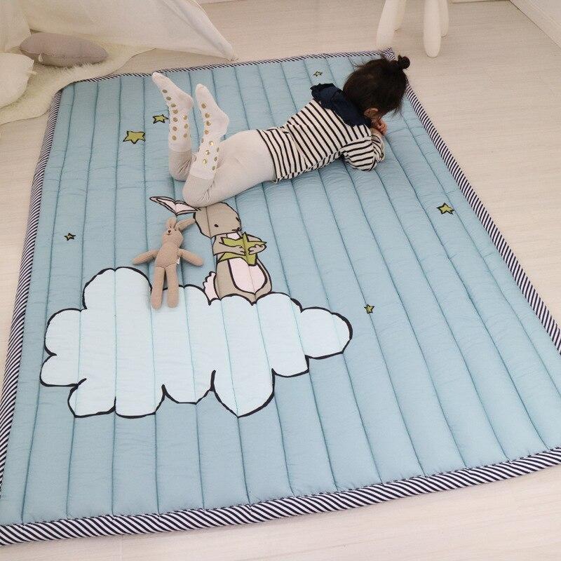 Infantile brillant 140X195 CM bébé jouer tapis 2.5 CM épaississement bande dessinée couverture enfants jeu tapis Machine lavable tapis - 2