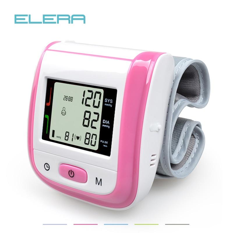 Assistenza Sanitaria Automatico Da Polso Blood Pressure Monitor Digital LCD Polso Polsino di Pressione Sanguigna Metro Esfingomanometro Tonometro