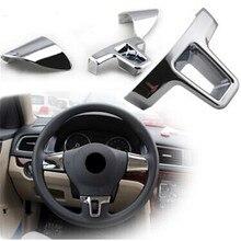 Автомобильный Стайлинг, декоративная накладка на руль, наклейка для Volkswagen Tiguan Passta Touran Lavida Amarok Multivan, автомобильные аксессуары