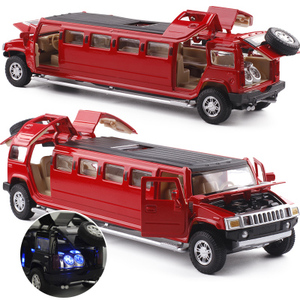 Image 3 - high simulation 1:32 alloy limousine metal diecast car model pull back flashing musical kids toy vehicles gifts free shipping