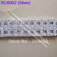Free Express Shipping 10meters Lot Czech Crystal Rhinestone Cup Chain With SS16 Crystal In Sliver