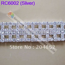 (free Express shipping) 10meters/lot, Czech crystal rhinestone cup chain with SS16 Crystal in Sliver or Gold Setting 2 feet passive crystal sliver 18 pcs