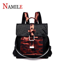 Backpack female 2019 new fashion multi-function ladies backpack high quality leather large capacity  shoulder bag luodun 2018 split leather crocodile pattern shoulder bag female leather multi functional fashion ladies backpack