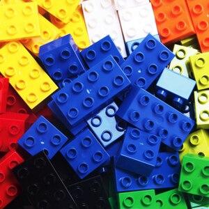 Image 2 - 102pcs Diy Duploed Building Blocks อิฐสร้างสรรค์ด้วยการศึกษาของเล่นเด็กคริสต์มาสของขวัญ
