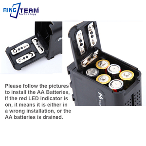 Image 3 - Пустая батарея пустая батарея, чехол адаптер NPF970 для 6 шт. AA, светодиодный светильник, лампа, панели или монитор YN300 III, светодиодный светильник, лампа, лампа YN300 III, лампа, экран