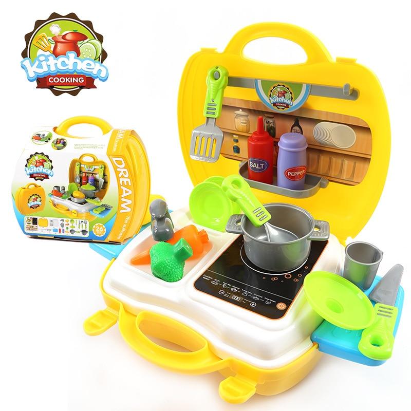 25pcs Portable Classic Cooking Toys For Children Pretend