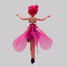 Hand Induction Floating Flying Fairy Dolls blue Electronic font b Toys b font Girl creative gift