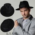 Moda de lã quinquagenário masculino fedoras jazz cap desempenho chapéu do vintage