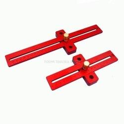 Ze stopu aluminium ze stopu aluminium crossed władcy typu T rysik do obróbki drewna linijka do obróbki drewna T-170 T-270 T-370 dla DIY narzędzie pomocnicze
